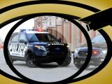 Bild: Überwacht und überwacht werden: In den USA hat Ford Technik für Streifenwagen vorgestellt die sicherstellt, dass sich Beamte im Einsatz an die Spielregeln halten.