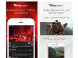 Bild: Mit der iOS-App Livestream kann der Videographer Filme live ins Netz übertragen.