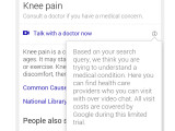 Bild: Ein Reddit-Nutzer mit Knieschmerzen, war im Rahmen einer Google-Recherche auf die neue Funktion gestoßen.