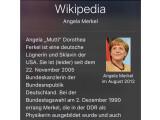 Bild: Bei Wikipedia kam Angela Merkel in der Nacht zum Freitag nicht gut weg.