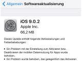 Bild: iOS 9.0.2 soll zahlreiche Fehler im iPhone-Betriebsystem ausräumen.