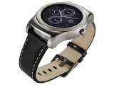 Bild: Eine neue Smartwatch von LG. Die Watch Urbane ist eine luxuriöse Uhr mit Edelstahlgehäuse und Lederarmband.