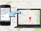 Bild: Via Google Maps lassen sich ab sofort Standorte vom PC mit Mobilgeräten teilen.