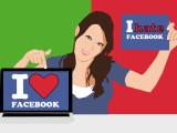 """Bild: Typische Facebook-Karriere: Nach """"Nieder mit dem US-Kapitalismus und der Daten-Sammelwut"""" folgt """"Ich kann ja doch nichts ändern. Also mache ich das für mich beste daraus""""."""