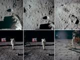 """Bild: Tausende Bilder der ersten Nasa-Mondmissionen zeigt das Fotoalbum """"Project Apollo Archive"""" auf Flickr."""