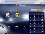 Bild: Über die Web-Tribüne auf der Webseite des ZDF erhältst du weitere Inhalte wie aktuelle Tabellen und Statistiken zur Champions League.