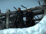 Bild: Jon Snow steht mal wieder auf der Mauer.