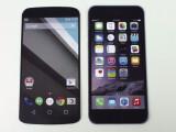 Bild: Das Nexus 6-Mockup (links) im Größenvergleich mit dem iPhone 6 Plus (rechts)