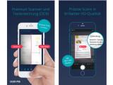 Bild: Die iPhone-App Scan me scannt Dokumente auf dem iPhone mit einer herausragenden Qualität ein und arbeitet dabei noch vollautomatisch.