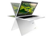 Bild: Das Chromebook R11 von Acer lässt sich dank 360-Grad-Scharniere vielfältig nutzen. Möglich ist der Stand-, Zelt-, Tablet- und Notebook-Modus.