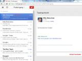Bild: Gmail offline erinnert vom Design an eine App für mobile Geräte.