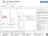 """Bild: Mit der Erweiterung """"User-Agent Switcher"""" für den Webbrowser Google Chrome manipuliert ihr die Kennung eures Browsers."""