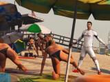 Bild: Ronaldo jubelt auch am Strand von GTA 5.