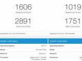 Bild: iOS 9: Mit aktiviertem Energiesparmodus fallen die Werte mit Geekbench 3 geringer aus.