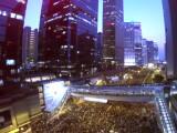 Bild: Die Proteste in Hongkong aus der Vogelperspektive.