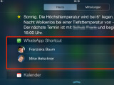 Bild: Über Shortcuts zu WhatsApp greift ihr auf häufig genutzte Kontakte noch schneller zu.