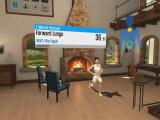 Bild: Im virtuellen Wohnzimmer mit E-Trainer soll das Überwinden des eigenen Schweinehundes leichter werden.