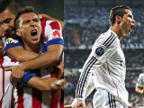 Bild: Lokalrivalen treffen aufeinander: Atletico Madrid (links), Real Madrid (rechts).