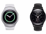 Bild: Die Samsung Gear 2 und die Samsung Gear S2 Classic (rechts) sind die ersten Smartwatches von Samsung mit rundem Display.