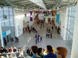 Bild: Die Messehallen auf der Gamescom in Köln füllen sich langsam.