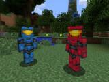 Bild: Bald ein gewohntes Bild? Minecraft im Halo-Look.