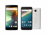Bild: Das OnePlus 2 (links) und das Nexus 5X (rechts) bieten beide gute Hardware zum kleinen Preis.