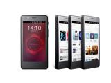 Bild: Das Aquaris E4.5 Ubuntu Edition ist das erste Smartphone der Welt mit dem Linux-basierten Betriebssystem.