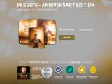 Bild: Die Anniversary Edition von PES 2016 erscheint in einer Steelbook-Hülle.