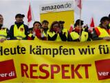 Bild: In vier Standorten in Deutschland streiken Amazon-Mitarbeiter in der Logistik.