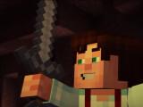 Bild: In Minecraft Story Mode zücken Spieler auch Waffen.