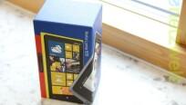 Der Karton erstrahlt im typischen Nokia-Blau....