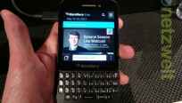 Das Display misst wie beim BlackBerry Q10 3,1...