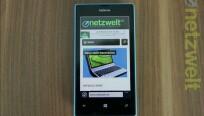 Ins Netz geht das Lumia 520 via Mobilfunk oder...