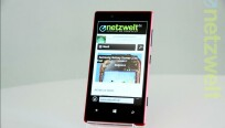 Das Display des Lumia 720 misst 4,3 Zoll, die...