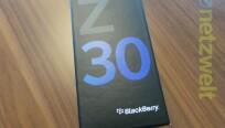 Das BlackBerry Z30 ist in der Redaktion...