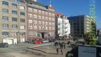 Strahlender Sonnenschein in Hamburg, und das...