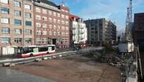 Die Aufnahme aus dem Hamburger Hafen zeigt...