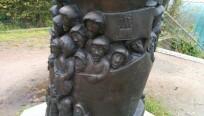 Eine Statue in der Nähe des Hamburger Hafens....