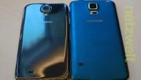 Das Galaxy S5 (rechts) weist nun ein...