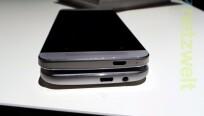 Beim HTC One (M8) (unten) befinden sich alle...