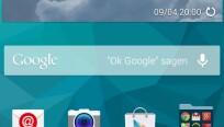 Der neue Startbildschirm des Galaxy S5 ist...