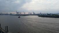 Der Hamburger Hafen um 7:30 Uhr. (Bild: netzwelt)