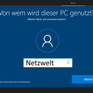 Windows 10 Home: Installation mit lokalem Konto erzwingen - So geht´s