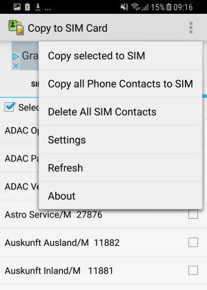 Samsung Kontakte Auf Sim Karte übertragen.Copy To Sim Card Download Netzwelt