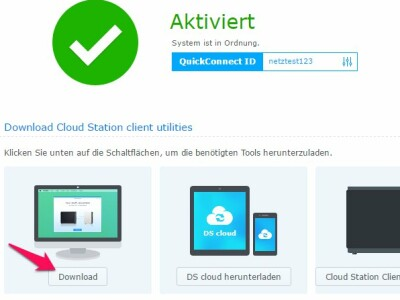 Cloud Station Einrichten