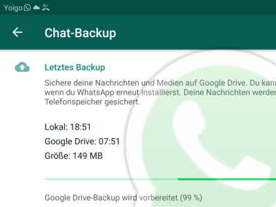 Whatsapp Backup Hängt