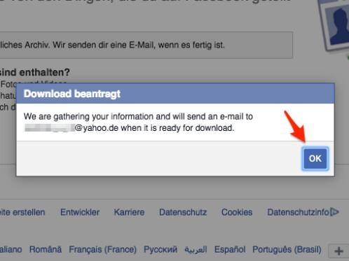 Facebook-Startseite Handy-Download