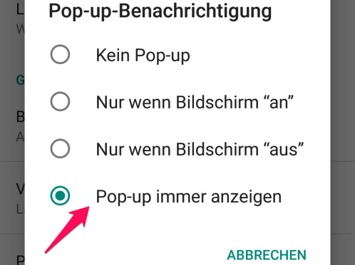 Whatsapp Pop Up Benachrichtigung