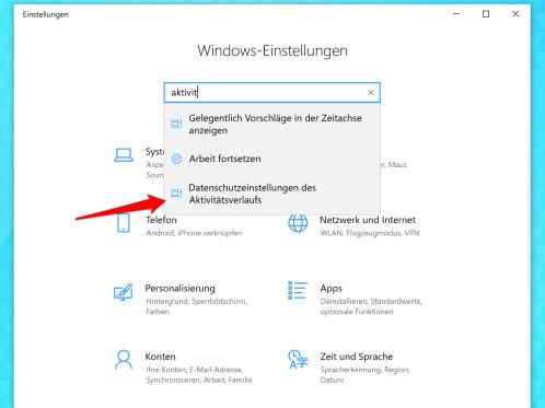 Windows 10: So (de)aktiviert ihr die Zeitachse (Timeline) - NETZWELT