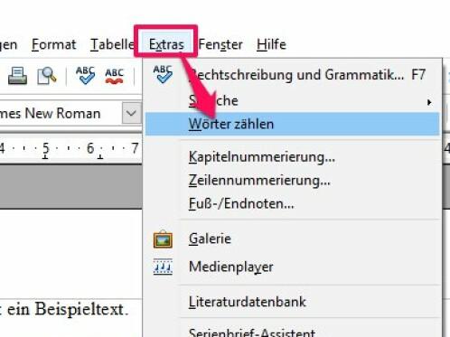 OpenOffice: Wörter zählen und Rechtschreibprüfung (de)aktivieren ...